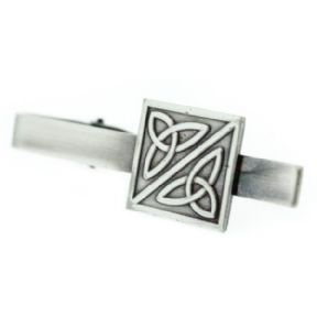 Celtic Trinity Knots Pewter Square Tiebar 9864